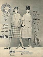 PUBLICITE ADVERTISING 024   1962   YOUNG-CLUB  SUROIT  pret à porter