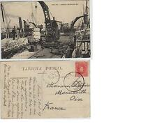 Tarjeta Postal. Huelva. Detalles del Muelle Sur. Animada.