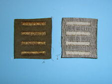 b1655-4 WW 2 US Army Overseas Bar Officer style 4 bars OD wool