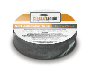 Classic-Liquid Self Adhesive Tape for joining Boards, 75mm, Liquid Flat Roofing