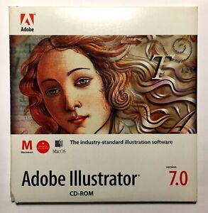 Adobe Illustrator 7.0 - Legacy Vintage Software - Disk Only with Serial Number