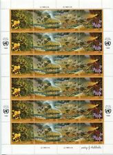 FAUNA_3134 1993 United Nations butterflies birds Environment New York SHEET MNH