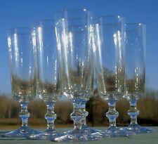 Baccarat - Service de 6 flûtes à champagne en cristal, catalogue 1907