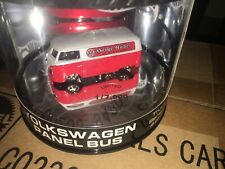 2003 HOT WHEELS OIL CAN SERIES VOLKSWAGEN VW PANEL BUS RED WHITE COLOR 1/7000