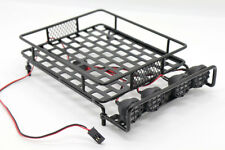 RC 1:10 Roof Luggage Rack LED Light Bar Wrangler Tamiya CC01 SCX10 Axial 515B