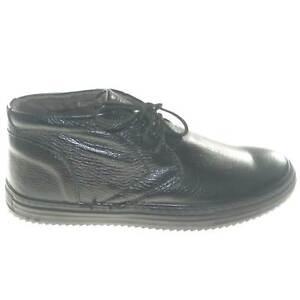 scarpe uomo polacchini nero in vera pelle di vitello made in italy moda basic fo