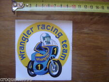 Autocollant Sticker moto WRANGLER RACING TEAM