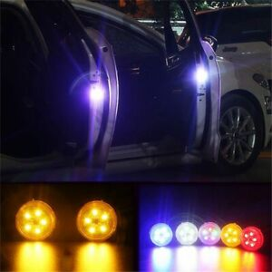 2Pack Universal Wireless Car Opening Door Magnetic Singal Lights Styling Strobe