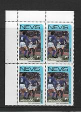 1986 NEVIS - FOOTBALL WORLD CUP -  . CORNER BLOCK - ITALY V GERMANY - MNH.