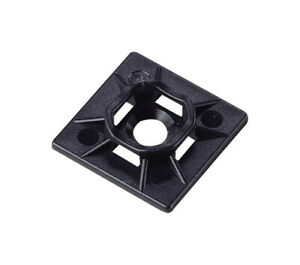 Gardner Bender 45-MBUVB Durable Black Cable Tie Mounting Base 1 L x 1 W in.