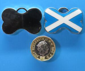 Expressions Engravers Enamelled Scottish Bone Shape pet/dog tag