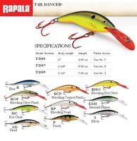 Rapala Tail Dancer 5-9 cm 6-13g Pêche Leurre Balsa Bois | Divers Couleurs