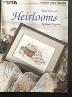 Heirlooms Counted Cross Stitch Book #17 Leisure Arts Paula Vaughan Quilting