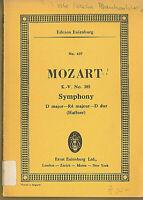 Mozart : Symphony D-dur ( Haffner ) KV 385 ~ Studienpartitur