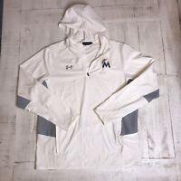 Under Armour Men's Lg 1/4 Zip Long Sleeve Pullover Marlins MLB