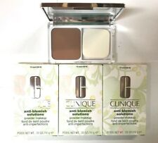 Clinique Lot of 3 Anti-Blemish Solutions Powder Makeup Foundation in 18 Sand
