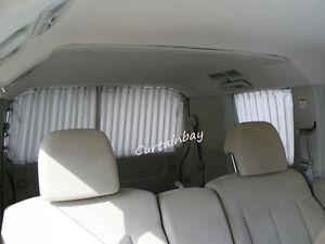 Mitsubishi Delica complete rear curtain set.Grey, beige, blue, black, burgundy