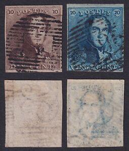 Belgium 1849 Classic stamps EPAULETTE Cob 1/2 - Used Superb................X2953