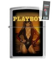 Zippo 4758 Playboy Cover-March 1977 Brushed Chrome Lighter + FLINT PACK