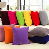 "Plain Poly Cotton Cushion Cover 10"" to 24"" Sizes Available 30 colours Sofa Décor"