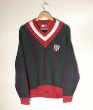 Rare 90s Tommy Hilfiger Crest XL Cableknit Tennis Preppy Sweater Oxford Classics