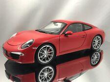 Welly NEX Porsche 911 (991) Carrera S Red Diecast Model Car 1:18