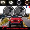 2Pc 7 pouces LED Phare Halo Anneau DRL clignotant Lumière Pour Jeep Wrangler JK