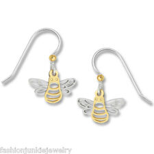 Bee Earrings - 925 Sterling Silver Ear Wires Bumble Bee Dangle Earrings NEW Bees