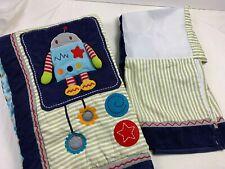 Kids Line KidsLine Robots Play Nursery Crib Quilt Comforter Blanket & Bed Skirt