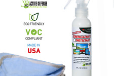 Ultima Screen Cleaner  Protectant 4 oz Bottle & Applicator Antibacterial Spray