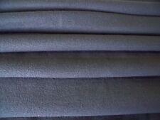 HEAVY COTTON STRETCH FINE RIB JERSEY-GREY -DRESS FABRIC-FREE P&P