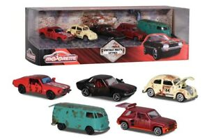 NEW Majorette Rusty Vintage 5 Pce Giftpack Ford Porsche Renault VW Toyota 7.5cm
