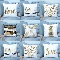 "16"" Letter Pillow Sequin Cover Glitter Sofa Waist Throw Cushion Case Home Decor"