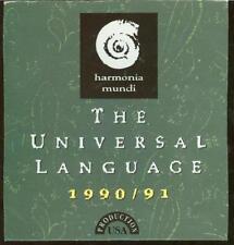 Harmonia Mundi: Universal Language 1990/91 PROMO Music CD classical HMU 907503