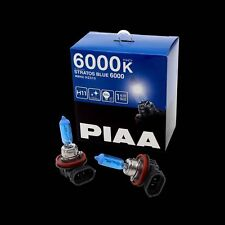 HZ510 PIAA H11 STRATOS BLUE FOGLIGHT FOG BULBS (x2) 6000K XENON EFFECT 55w=100w