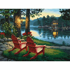 DIY 5D Diamond Painting Embroidery Cross Stitch Arts Craft Home Decor Red Chair