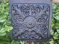 """Scroll stepping stone mold plaster concrete plastic mould 13"""" x 2"""" thick"""