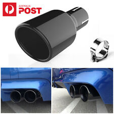 """2.5"""" Inlet 4"""" Outlet Car Bevel Exhaust Tip Auto Tail Pipe Muffler Black AU Ship"""