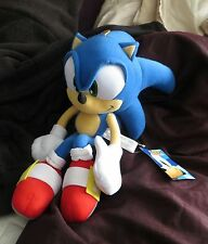 "Sega New Official 2016 Sonic The Hedgehog 14"" Plush toy figure Modern SONIC NWT"