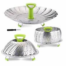 Vegetable Steamer Basket, Stainless Steel Folding Basket Insert for Veggie Fish