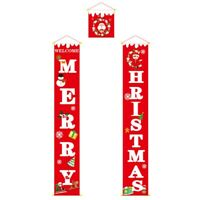 Merry Christmas Porch Door Banner Hanging Ornament Christmas Decoration for I7B2