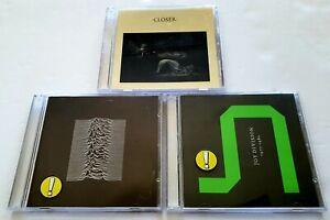 3 x Mint Condition JOY DIVISION CD's 1992 GERMAN PRESSINGS