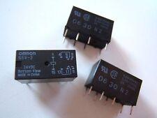 OMRON RELAY G5V2-DC24V. (3 LOT) 0.6A-125VAC.2A-30VDC NOS UNUSED.