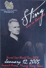 "Sting ""Sacred Love World Tour"" Live In Bangkok 2005 Concert Poster- Police, Rock"