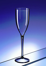 6 x Premium Plastic Champagne Flute (Polycarbonate) looks like real glass