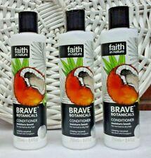 3x Faith in Nature Brave Botanicals Conditioner Creamy Coconut 3x 250ml Free P&P
