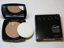 Avon Ideal Flawless Pressed Powder G203 Medium Deep 0.4 oz NIB NOS ;;