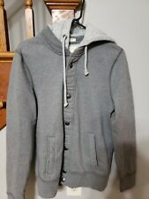 Abercrombie & Fitch New York Muscle Mens Button Up Hoodie Knitted Cardigan Small