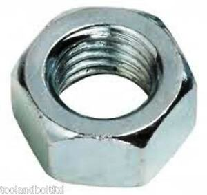"""1/4"""" UNF STEEL NUTS BZP - 10 PACK"""