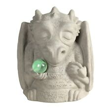 Meditating Dragon Gargoyle Statue - Hand Crafted Garden Sculpture with Marble